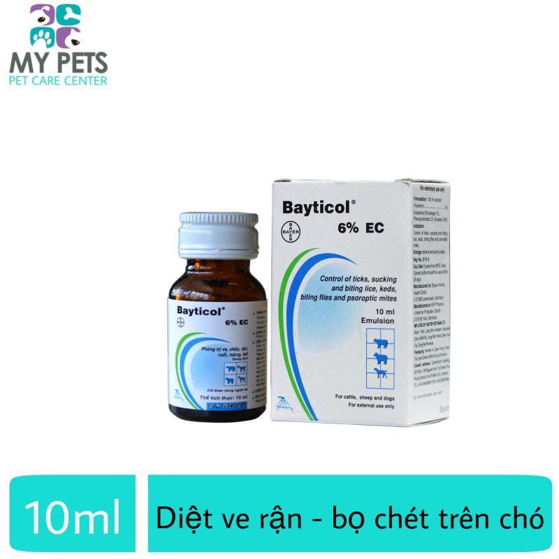 Thuốc pha tắm diệt ve ghẻ, bọ chét trên chó - Bayer Bayticol 10ml