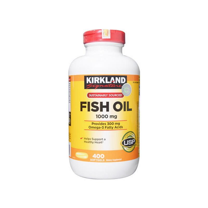 VIÊN UỐNG DẦU CÁ MỸ FISH OIL 1000MG KIRKLAND SIGNATURE (400 VIÊN)