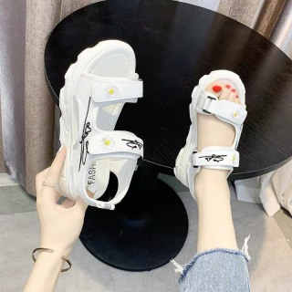 (Video 2 màu) Sandal nữ,sandal hoa cúc 2 quai chữ kí kiểu dáng trẻ trung 5