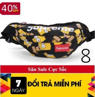 Túi đeo chéo nam nữ - túi bao tử - túi đeo chéo superme - túi đeo chéo nữ - túi đựng điện thoại - Túi đeo vai nam supreme - Túi superme 8