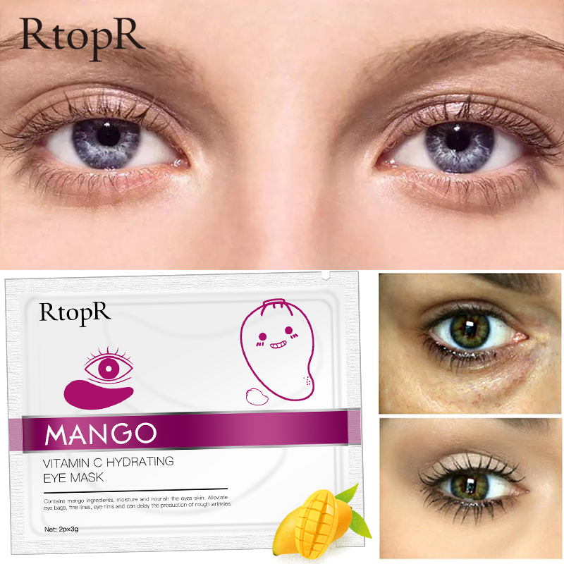 RtopR Xoài Vitamin C dưỡng ẩm chống lão hóa da mắt Serum miếng dán mắt Vàng chăm sóc loại bỏ nếp nhăn quầng thâm Vitamin C Hydrating Eye Patch giá rẻ