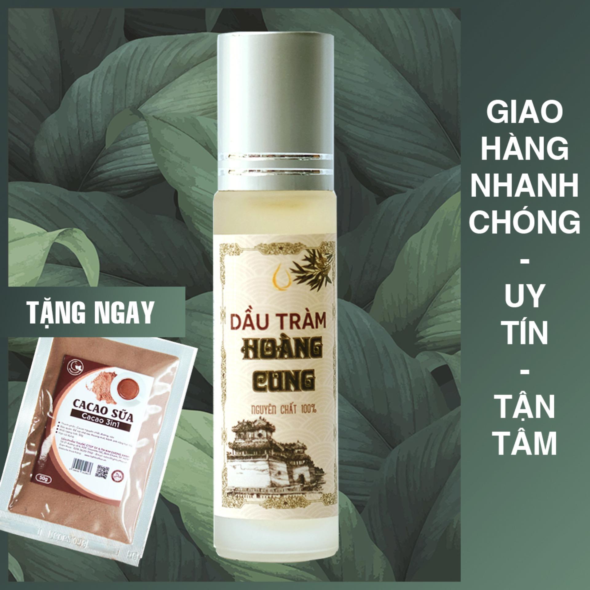 Dầu tràm Huế nguyên chất Hoàng Cung 10ml (chai lăn)