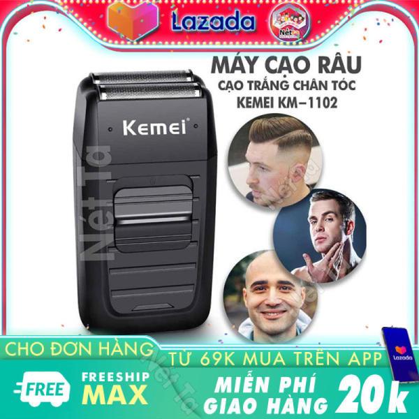 Bảng giá Máy cạo râu, cạo trắng chân tóc, fade 2 lưỡi kéo chuyên nghiệp Kemei KM-1102 công suất mạnh mẽ, pin sử dụng liên tục 45 phút Điện máy Pico