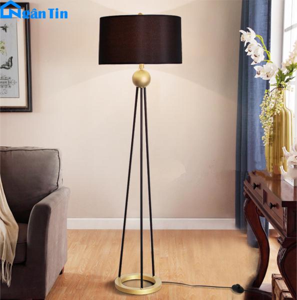 Đèn Cây Đứng Trang Trí Phòng Khách Phòng Ngủ Đọc Sách DC581 Ngân Tin (Tặng kèm một bóng Led Bulb 12W chất lượng)
