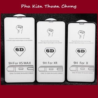 Kính cường lực 6D full màn hình Iphone 6,6s,7,7p,8,8p,X, Xr Xs Max, 11, 11 Pro, 11 Pro Max thumbnail