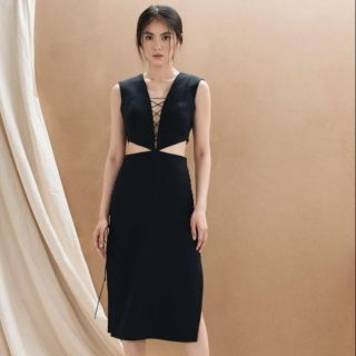 LINH DOAN Laced Up Cut Out Dress thumbnail