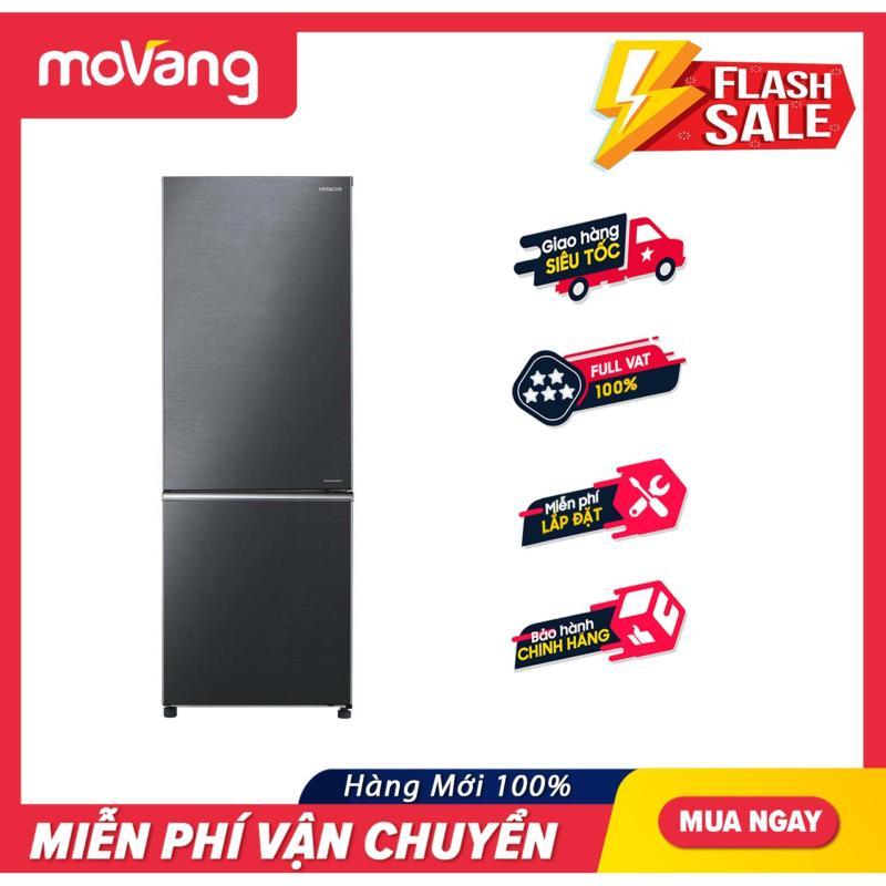 [TRẢ GÓP 0%] Tủ lạnh  275 lít Inverter Hitachi R-B330PGV8(BBK)
