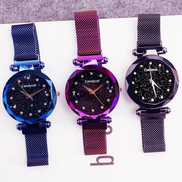 Đồng hồ thời trang nữ Candycat full viền dây lưới nam châm C38