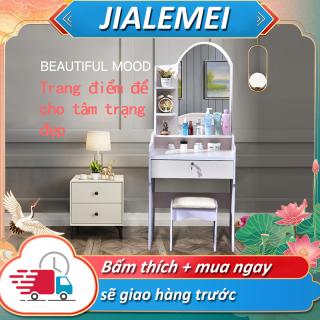YB15B Bàn trang điểm đơn giản bàn trang điểm ngôi nhà nhỏ tủ lưu trữ đa năng hiện đại tủ trang điểm phòng ngủ thumbnail