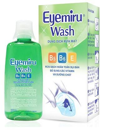 Dung Dịch Rửa Mắt Nhật Bản Eyemiru Wash : 500ml chính hãng