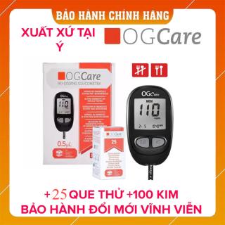 Máy đo đường huyết Ogcare của Ý + Tặng kèm 50 que thử thumbnail