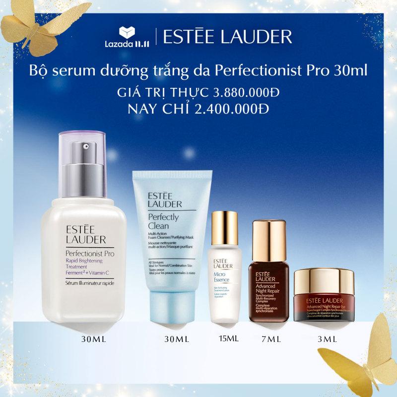 Tinh chất làm trắng hồng chuyên nghiệp Estee Lauder Perfectionist Pro Rapid Brightening Treatment with Ferment² + Vitamin C giá rẻ