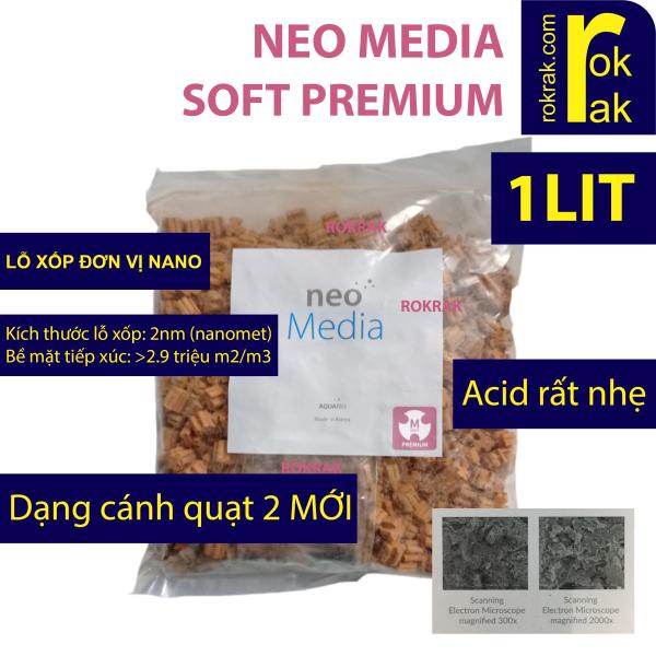NEO MEDIA SOFT PREMIUM 1Lit (giảm pH) dạng cánh quạt 2 (mới) vật liệu lọc cao cấp bể thủy sinh