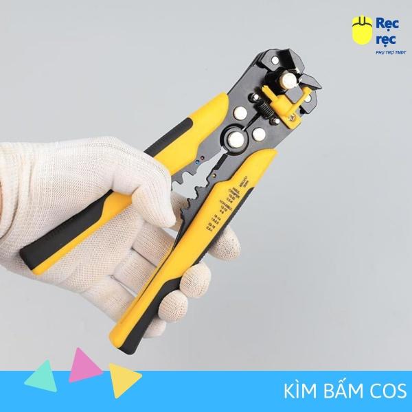 Kìm tuốt dây điện, dây cáp, bấm cos đa năng 0.2 - 6mm KC19