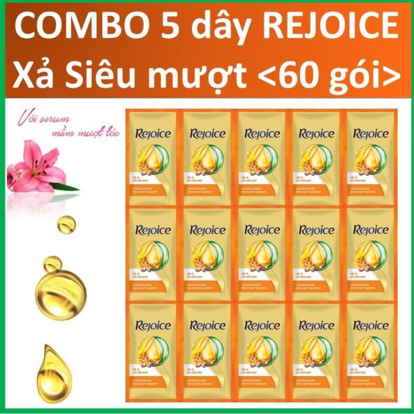 COMBO 5 dây dầu xả Rejoice Siêu mượt 5X12 gói
