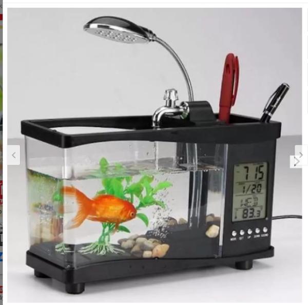 (Hàng loại 1) Bể cá mini có đồng hồ điện tử
