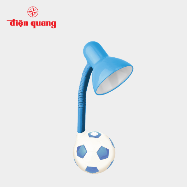 Đèn bàn Điện Quang(ĐQ DKL01 CW) kiểu trái banh, xanh trắng, không bóng