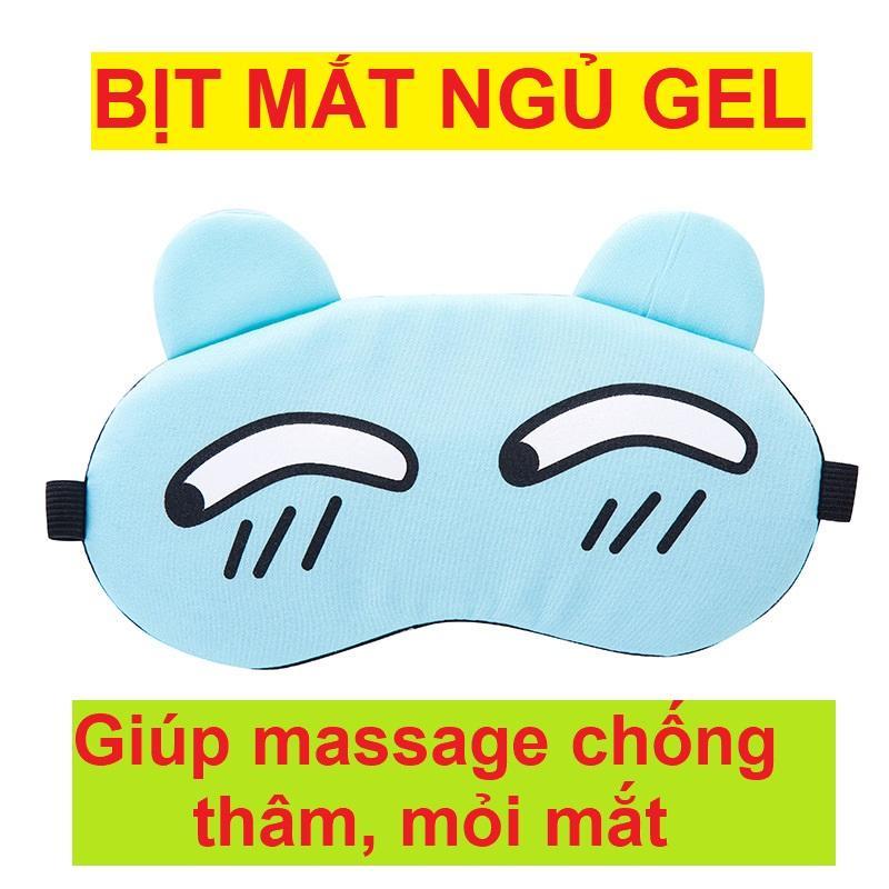 Mã Ưu Đãi Khi Mua Miếng Che Mắt Ngủ Massage Kèm Gel Chất Vải Mềm Mịn Tay Dễ Dàng Giặt Rửa Có Thể Tháo Lắp Túi Gel