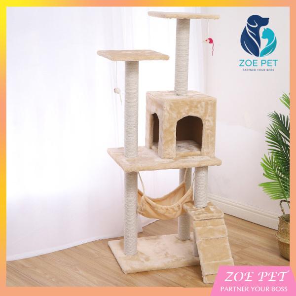 Nhà cây cho mèo Cat Tree có ổ nằm - Cao 1m30 siêu to, siêu chắc