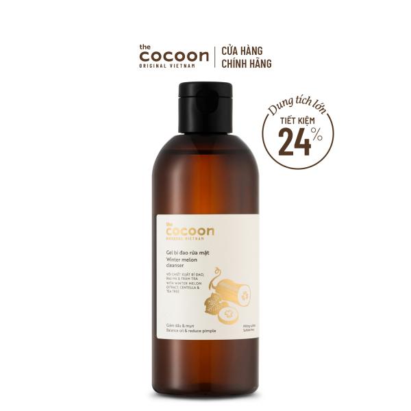 Bigsize - Gel bí đao rửa mặt Cocoon giảm dầu & mụn 310ml