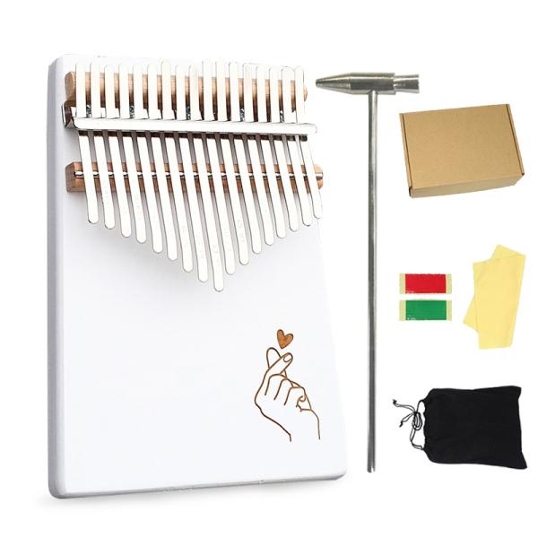 INSOUND 17 Keys cầm tay Kalimba ngón tay cái đàn piano gỗ Kalimba với bộ điều chỉnh miễn phí Búa đàn Kalimba Phụ kiện túi lưu trữ