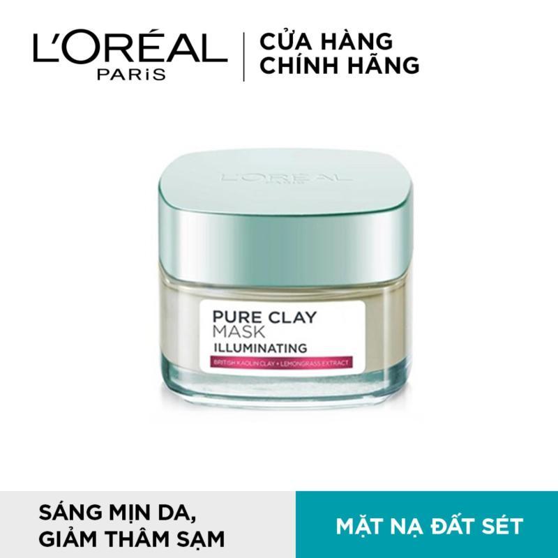 Mặt nạ đất sét dưỡng da sáng tức thì LOreal Paris Pure Clay mask Illuminating