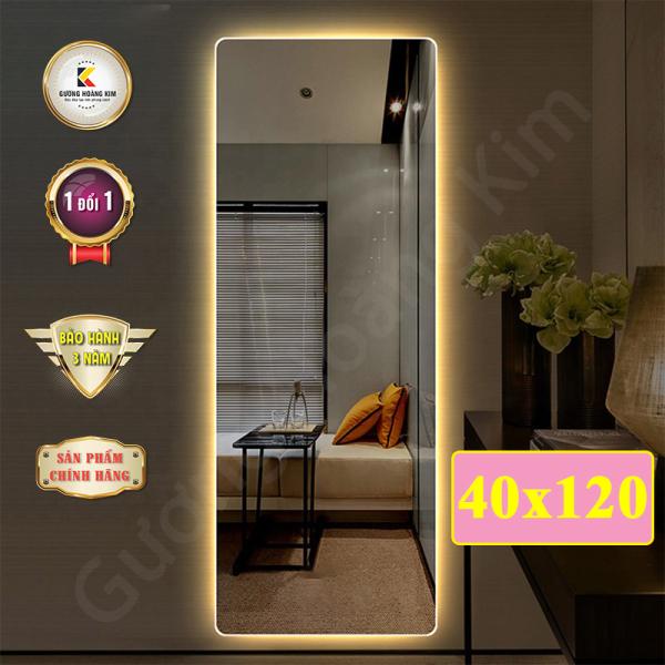 Gương Hoàng Kim - gương led soi toàn thân có cảm ứng 3 chạm hoặc 3 mầu  thông minh kích thước 40x120cm guonghoangkim mirror