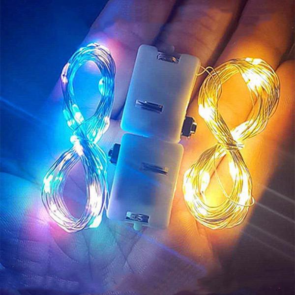 Bảng giá (Kèm pin LR44) Dây đom đóm Fairy light 3 chế độ nháy