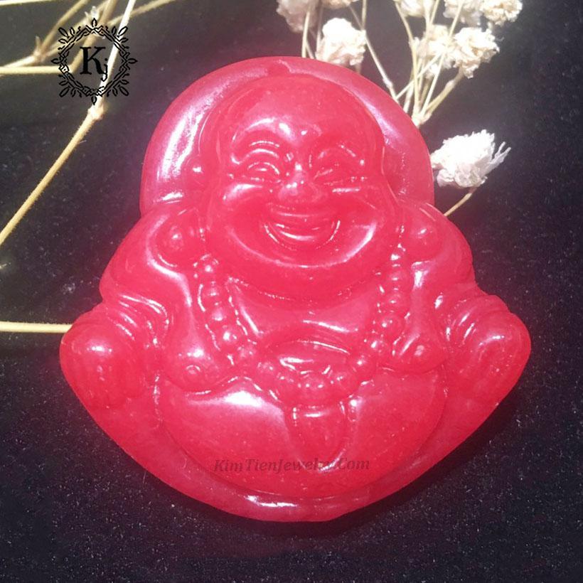 Mặt Dây Chuyền Phật Di Lặc Đá Cẩm Thạch Huyết - Vị Phật Của Nụ Cười - Mang Đến Niềm Vui - Tâm Hồn An Nhiên - Tặng Kèm Dây Đeo, Mặt Dây Chuyền Phật Di Lặc Rẻ, Mặt Dây Chuyền Phật, Thương Hiệu Kim Tiền Jewelry