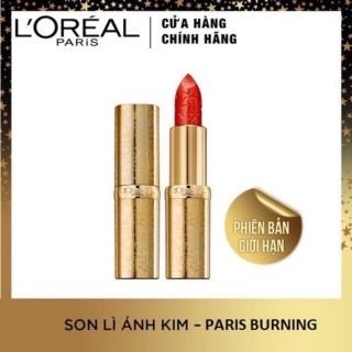 Son Lì Ánh Kim L Oreal Paris Màu Đỏ 393 Paris Burning 3.7g thumbnail