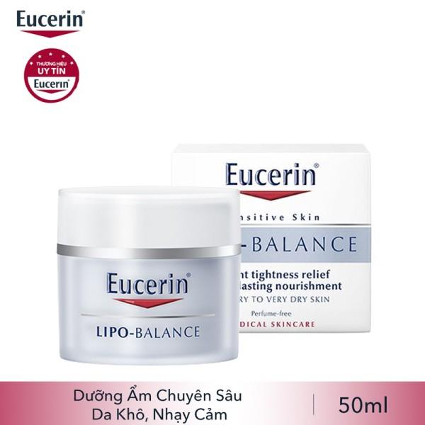 Kem dưỡng ẩm chuyên sâu cho da khô Eucerin Lipo Balance 50ml