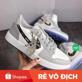 [ SALE ĐẬM ] [Full Box Bill ] Giày Jordan dior cổ cao + cổ thấp nam nữ màu xám bản cao cấp thumbnail