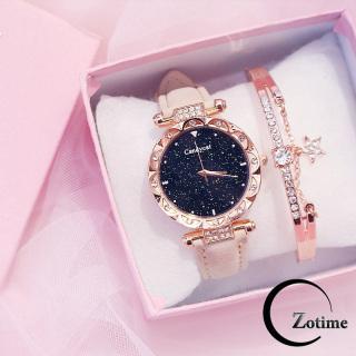 Đồng hồ nữ đeo tay đẹp Candycat dây da nhung đính cườm ZO20 thumbnail