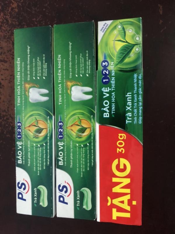 Compo 3 kem đánh răng Ps Trà xanh bảo vệ 123 30g/ tuýp