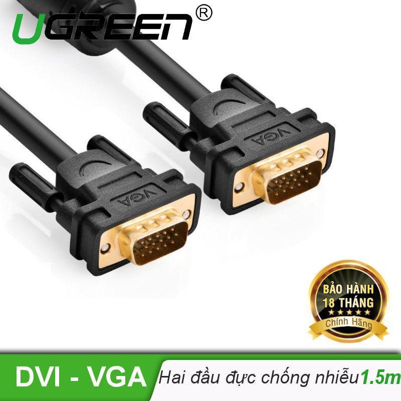 Bảng giá Dây cáp kết nối VGA HDB 15 đực sang HDB 15 đực dài 1.5M UGREEN VG101 11630 - Hãng phân phối chính thức Phong Vũ