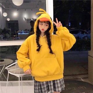 Áo hoodie mũ vịt màu vàng siêu cute giá rẻ thumbnail