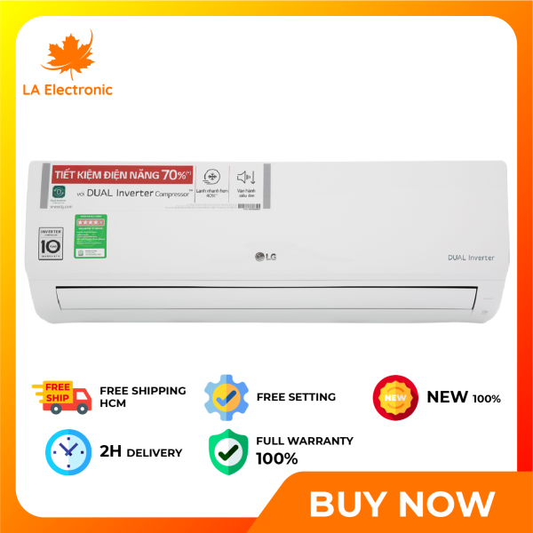 Installment 0% - LG Inverter 1 HP V10ENH air conditioner