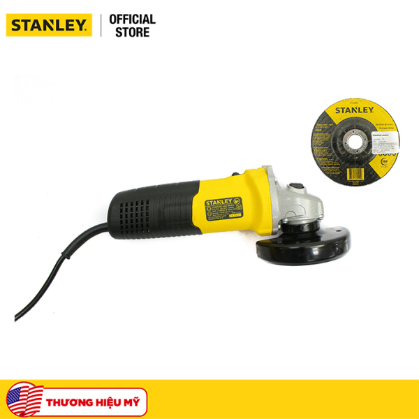 Combo Máy mài cầm tay Stanley STGS5100-B1 580W và Đĩa mài sắt Stanley STA4500 100 x 6 x 16 T27