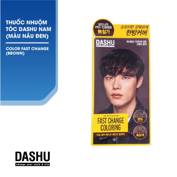 Nhuộm tóc Nam Hàn Quốc màu Nâu Khói Dashu Color Fast Change (Brown) không phụ gia, không Amoniac và hương liệu hóa học, triết xuất 90% thảo dược lên men Galactomyces từ tự nhiên, bảo vệ da đầu, phục hồi, an toàn, tốt cho mái tóc. giá rẻ