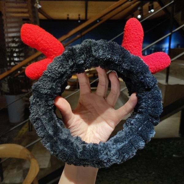 Băng đô rửa mặt Turban băng đô cài tóc sừng hươu vải nhung xinh xắn nhiều màu Hàn quốc BD12 giá rẻ