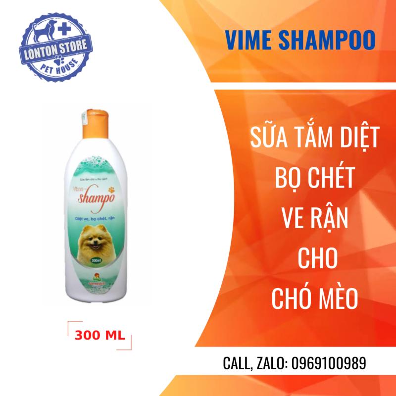 VEMEDIM Vime-Shampoo (nắp cam) - Sữa tắm giúp sạch lông, mùi thơm dễ chịu phòng chống ve, bọ chét lây nhiễm - Lonton store