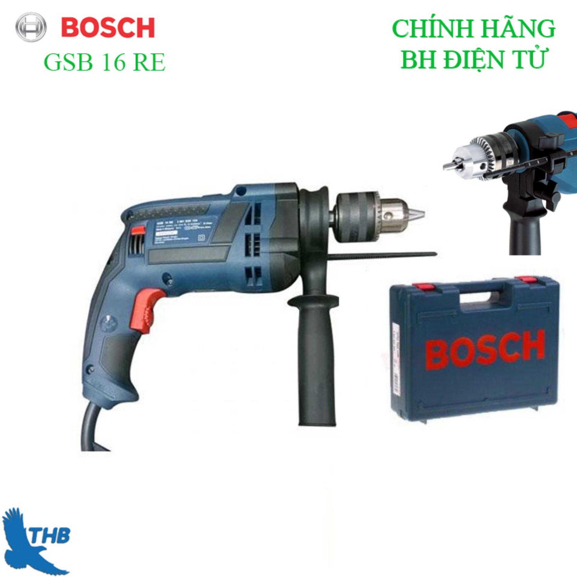 Máy khoan động lực Bosch GSB 16 RE cải tiến Kèm hộp nhựa