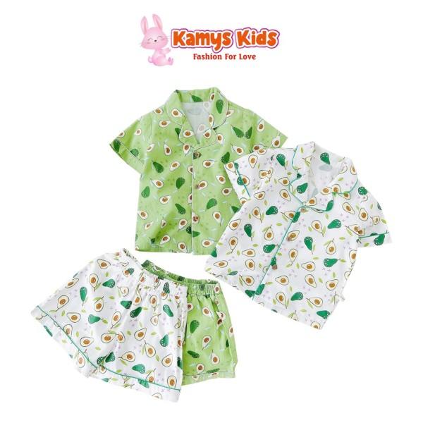Nơi bán Bộ Quần Áo Cộc Tay Pyjama Trẻ Em Hình Quả Bơ Kamys Kids Cho Bé Trai Và Bé Gái Từ 9-23Kg