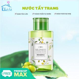 Nước tẩy trang Laikou 320ml không cồn, làm sạch sâu, dịu nhẹ cho da, nút nhấn tiện dụng hợp vệ sinh dễ dàng sử dụng, tẩy trang loại bỏ make up, nước tẩy trang cho da nhạy cảm, thành phần thiên nhiên thumbnail