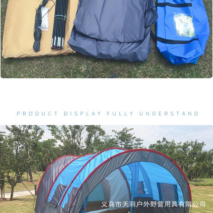 Lều Cắm Trại Cỡ Lớn 3 Phòng - Dành Cho 12 Người - 7