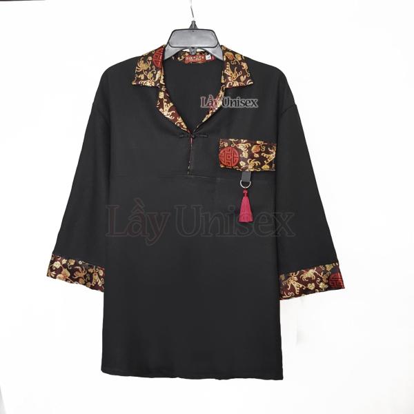 Áo Shanghai nam nữ cổ vest gấm, hán phục cổ điển thích hợp cosplay
