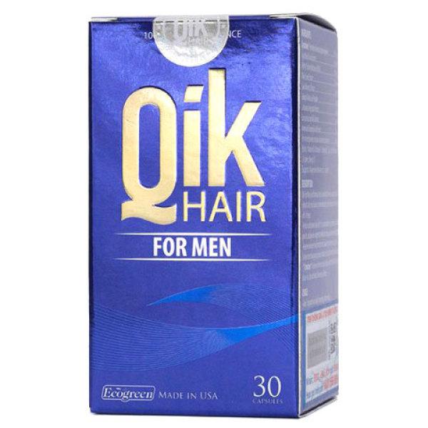 Qik Hair For Men - Hỗ trợ giảm hói đầu ở nam giới, kích thích tóc mọc nhanh và chậm bạc tóc (Hộp 30 viên) giá rẻ