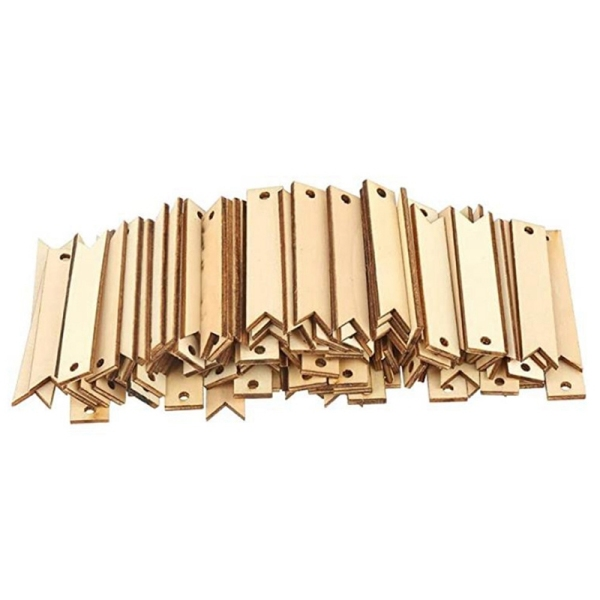 100Pcs Wood Card Wooden Tags Crafts Unfinished Wooden Slices with Holes for Birthday Wedding Holiday Party