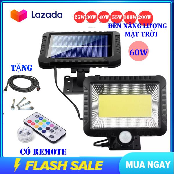 Bảng giá (Bảo Hành 12 tháng) Đèn năng lượng mặt trời 60W , Chống nước , dùng trong cả mùa mưa , đèn năng lượng mặt trời có điều khiển( remote)