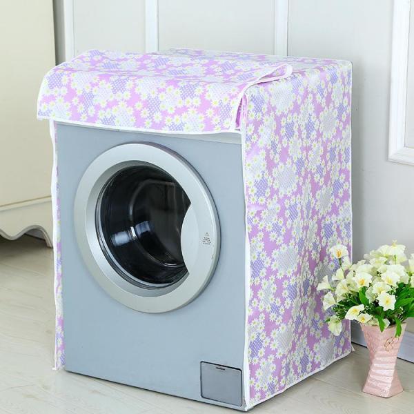 Áo Trùm Máy Giặt Cửa Ngang Vải Dù Size 7 - 8kg Họa Tiết Bông - Kara House - Gia dụng bếp